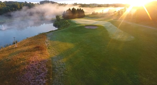 Sunrise over Tanglewood Greens.